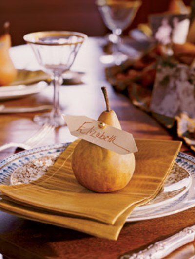 Thanksgiving pear for the table