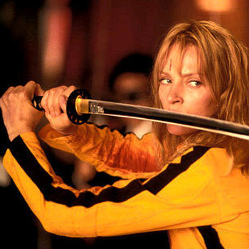 The Uma Thurman as The Bride in Kill Bill