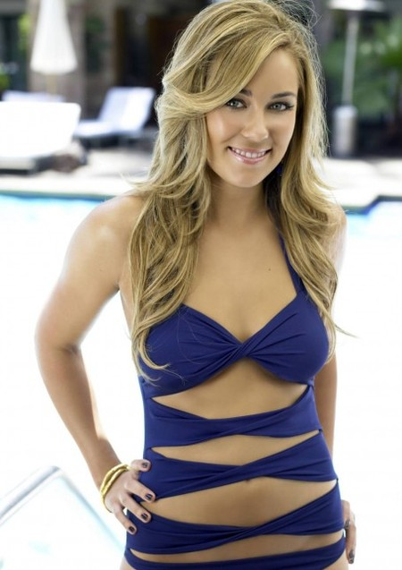 Lauren Conrad poses in a fun, cut-out bikini
