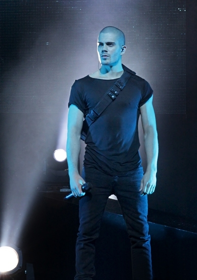 Band mate Max George get serious