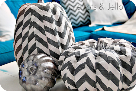 Chevron pumpkin pillows