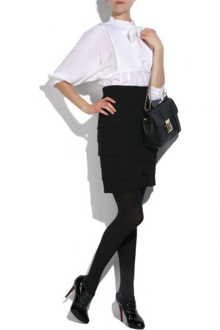 Tibi scalloped skirt