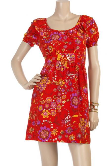 Tibi Secret Garden Print Dress