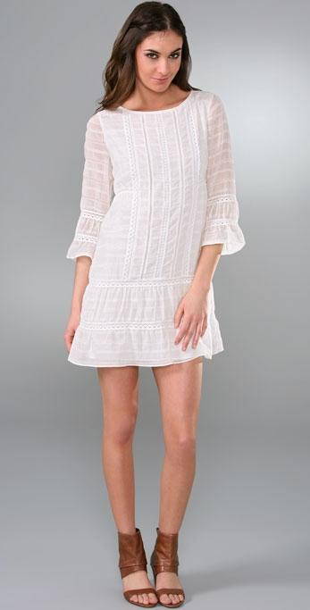 Tibi White Eyelet dress