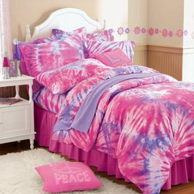 Tie-dye jersey knit bedding