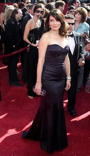 Tina Fey in plum