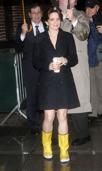 Tina Fey at The Late Show with David Letterman
