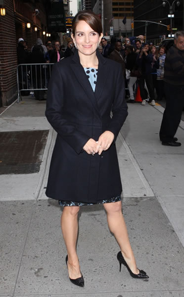 Tina Fey at Late Show