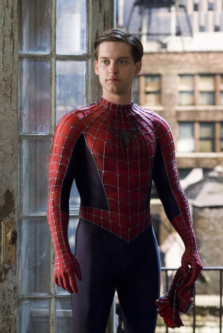 Tobey Maguire in his Superman costume