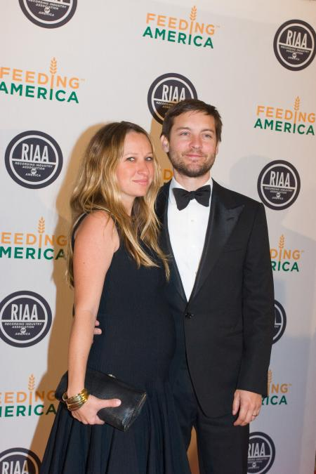 Tobey Maguire and girlfriend Jennifer Meyer at Feeding America event
