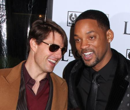 Tom Cruise and Will Smith laughing