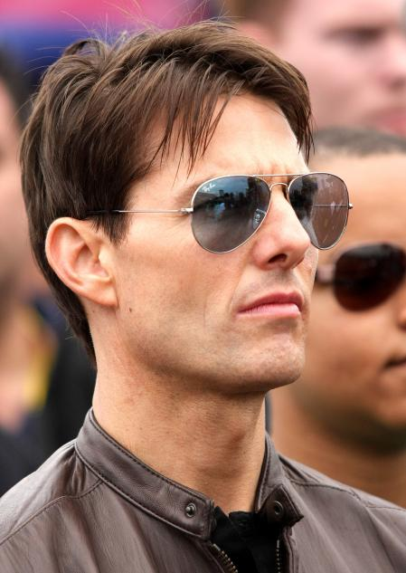Tom Cruise in Classic Aviator Sunglasses