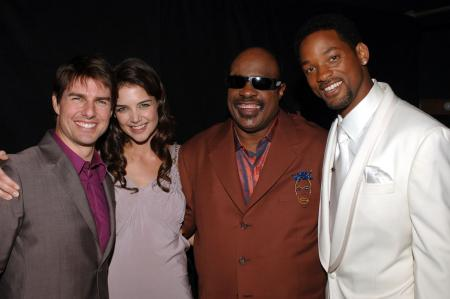 Tom Cruise and Katie Holmes, along with Stevie Wonder and Will Smith