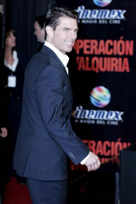 Tom Cruise at the Mexico premiere of his film Valkyrie