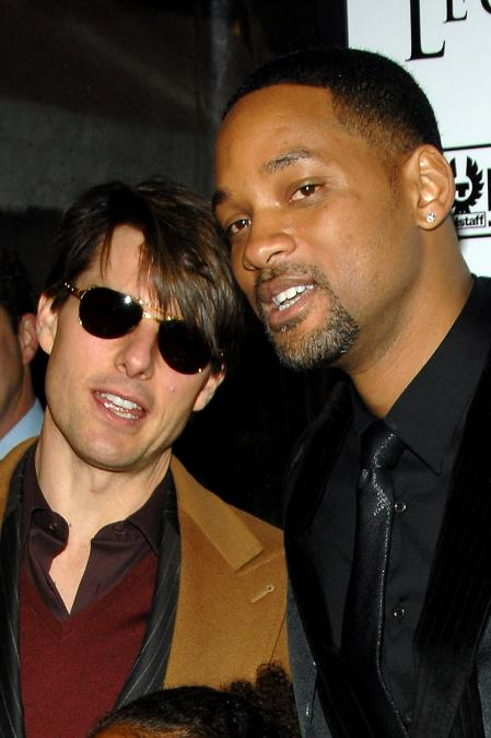 Tom Cruise and Will Smith at the I Am Legend premiere
