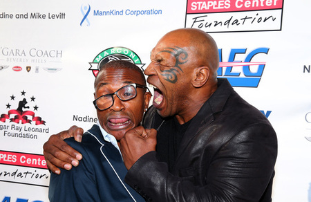 Mike Tyson and Tommy Davidson