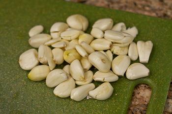 Peel and saute garlic