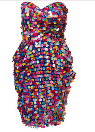 Disc bandeau dress
