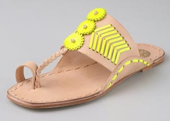 Tory Burch Toe Ring Flat Sandals