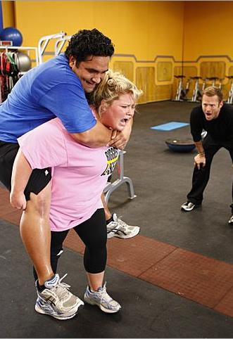 Toughest Biggest Loser Workouts Season 7 Sione and Shannon