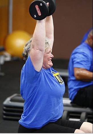 Toughest Biggest Loser Workouts Season 8 Liz Lifting Weights