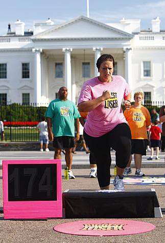 Toughest Biggest Loser Workouts Season Rebecca Stepping in Washington DC
