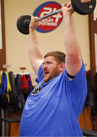 Toughest Biggest Loser Workouts Season 8 Rudy Lifting Weights