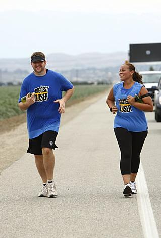 Toughest Biggest Loser Workouts Season 8 Rudy and Dina Running a Marathon