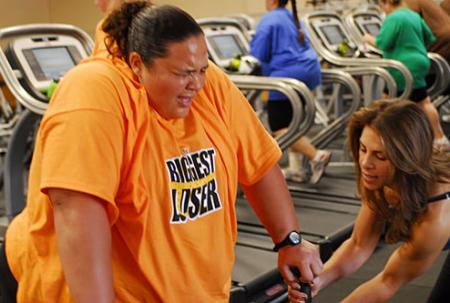 Toughest Biggest Loser Workouts Season 8 Shay on Treadmill