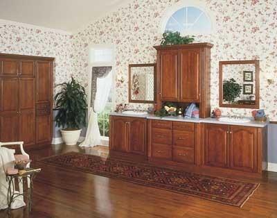 Cherry wood bathroom