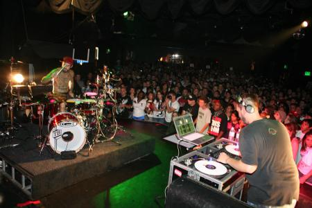Travis Barker on stage
