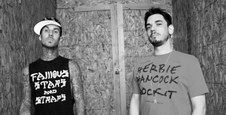 Blink-182 drummer poses with DJ AM