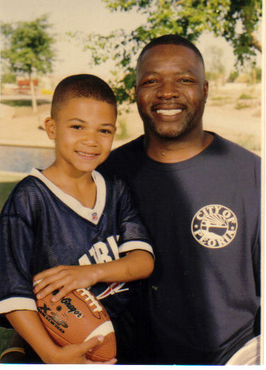 Trey (7 years old) with Uncle Doc