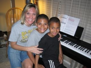 Trey with Mom and brother Zach
