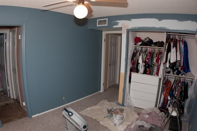 Trey's room during renovations view 5