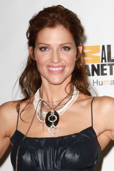 Tricia Helfer's long hairstyle