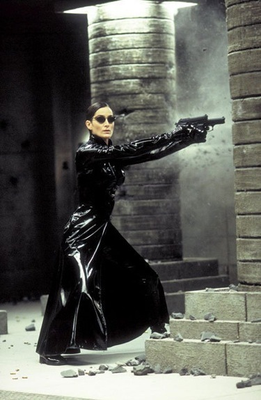 Carrie-Anne Moss as Trinity in The Matrix