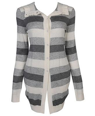 Tucked back striped cardigan