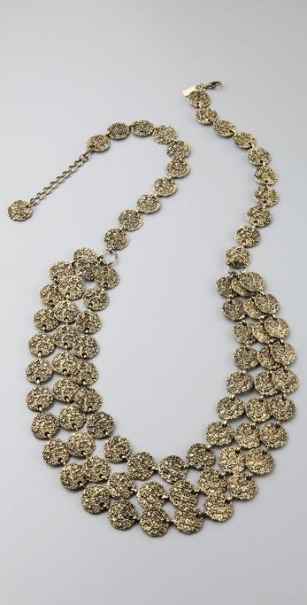 Tuleste Market Antique Coin Tiered Necklace