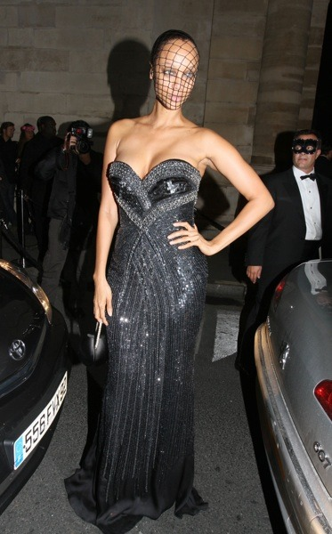 Tyra Banks in embellished gown