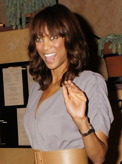 Tyra Banks with chestnut hair