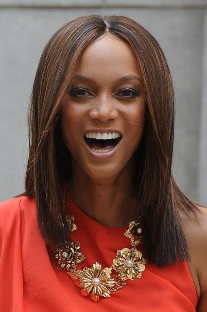 Tyra Bank's Long Straight Hairstyle