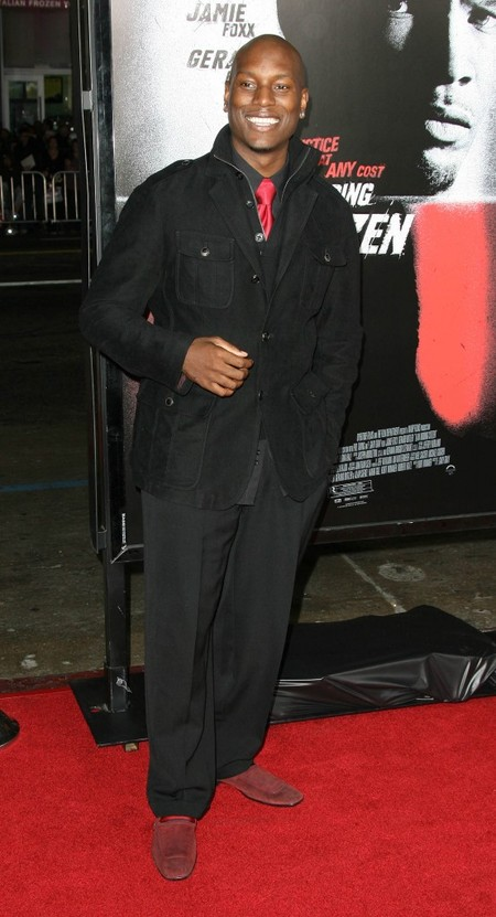 Tyrese Gibson at the Law Abiding Citizen premiere.