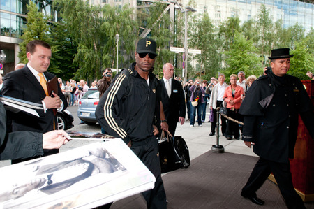 Tyrese Gibson looking fly in Germany. PHOTO CREDIT: WENN.com