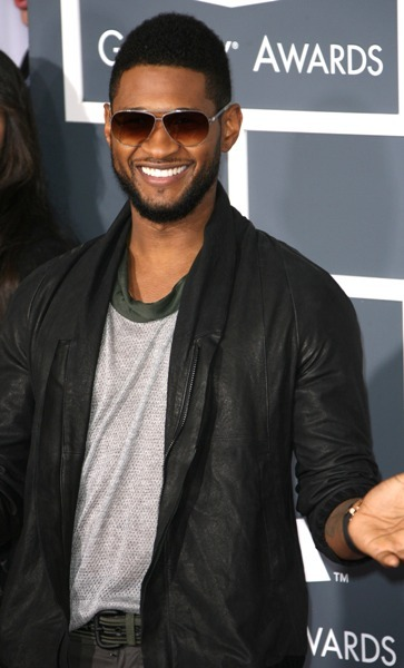 Usher makes his arrival