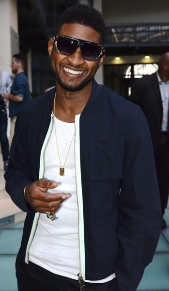 Usher stops off in Paris