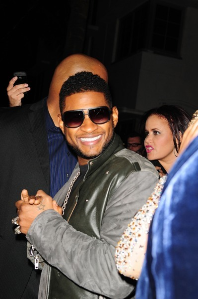 Usher hits up a birthday bash