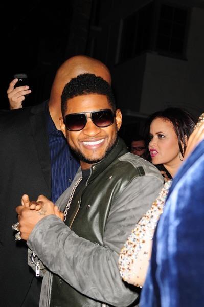 Usher hits up a birthday bash