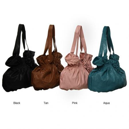 Valencia Flower Applique Hobo