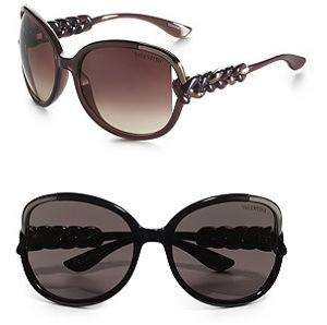Valentino Braided Temple Sunglasses